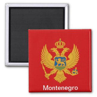 Flag of Montenegro Square Magnet