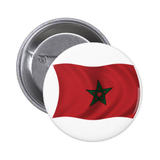Flag of Morocco 6 Cm Round Badge