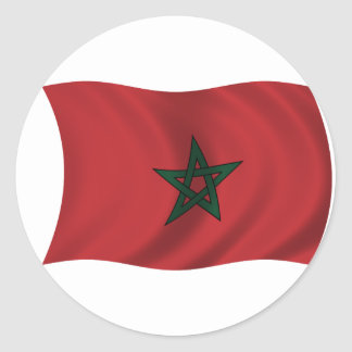 Flag of Morocco Classic Round Sticker