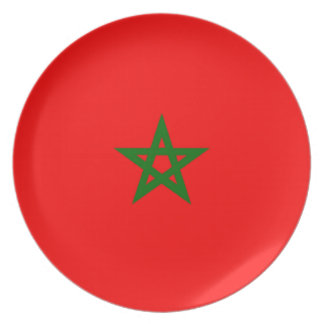 Flag of Morocco Party Plate