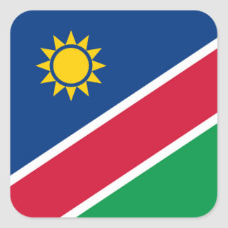 Flag of Namibia Square Sticker