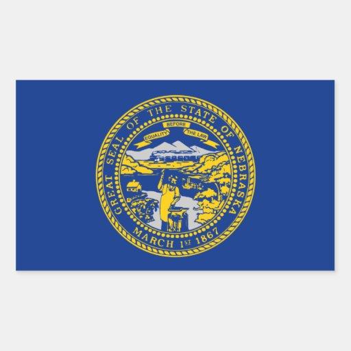 Flag of Nebraska Rectangular Sticker