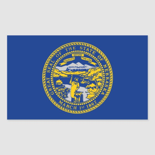 Flag of Nebraska Rectangular Sticker