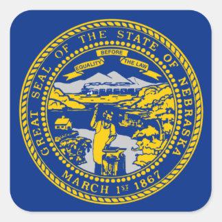 Flag of Nebraska Square Sticker