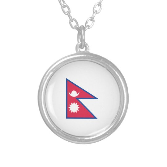 FLAG OF NEPAL SILVER PLATED NECKLACE