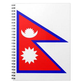 Flag of Nepal Spiral Notebook