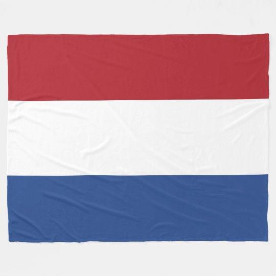 Flag of Netherlands Fleece Blanket