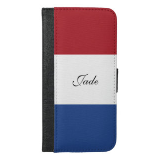 Flag of Netherlands iPhone 6/6s Plus Wallet Case