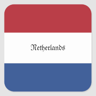 Flag of Netherlands Square Sticker