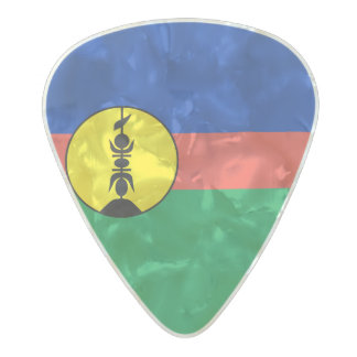 Flag of New Caledonia Guitar Picks Pearl Celluloid Guitar Pick