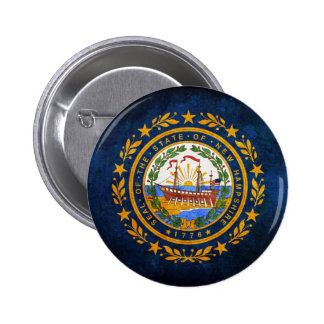 Flag of New Hampshire Button