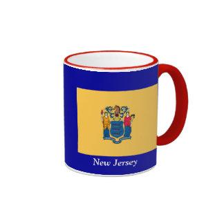 Flag of New Jersey Ringer Coffee Mug