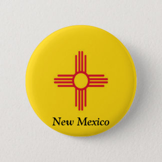 Flag of New Mexico 6 Cm Round Badge