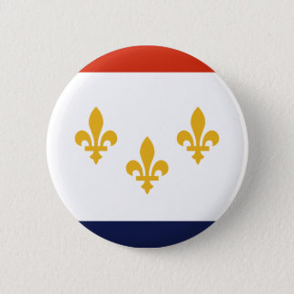 Flag of New Orleans, Louisiana 6 Cm Round Badge