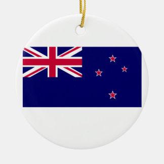 Flag of New Zealand Christmas Ornament