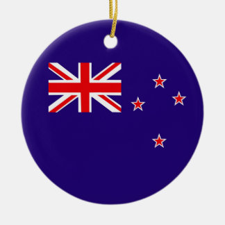 Flag of New Zealand Christmas Ornament