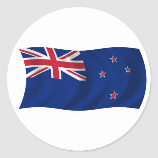Flag of New Zealand Classic Round Sticker