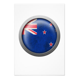 Flag of New Zealand Disc Invitation