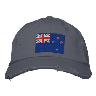 Flag of New Zealand Embroidered Hats