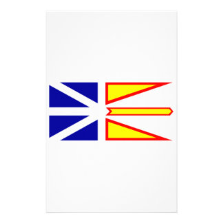 Flag of Newfoundland and Labrador, Canada. Customised Stationery