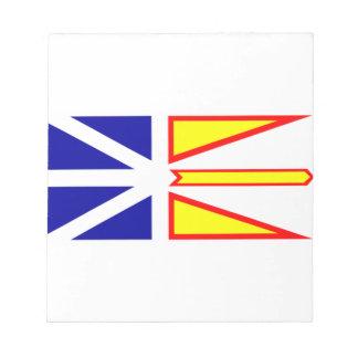 Flag of Newfoundland and Labrador, Canada. Notepad