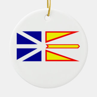Flag of Newfoundland and Labrador, Canada. Round Ceramic Decoration