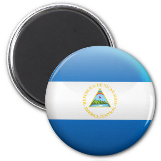 Flag of Nicaragua 6 Cm Round Magnet