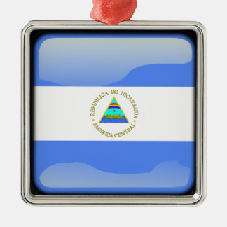 Flag of Nicaragua Christmas Ornament