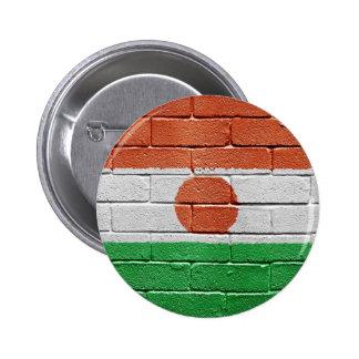 Flag of Niger 6 Cm Round Badge