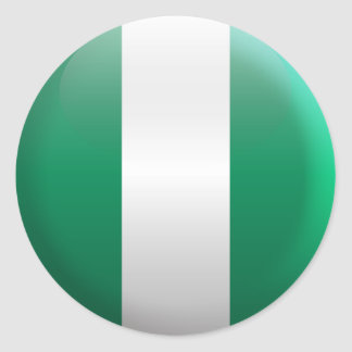 Flag of Nigeria Classic Round Sticker