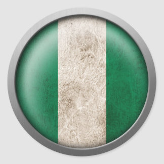 Flag of Nigeria Disc Classic Round Sticker