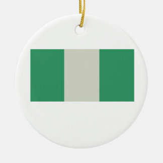 Flag of Nigeria Round Ceramic Decoration