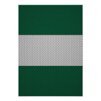 Flag of Nigeria with Carbon Fiber Effect Announcements