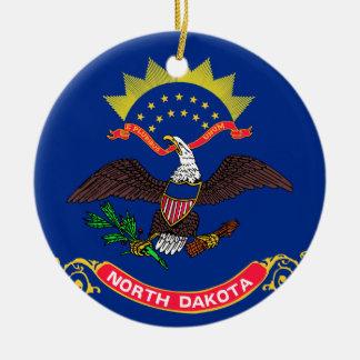 Flag of North Dakota Christmas Ornament