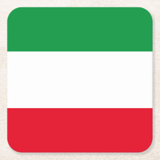Flag of North-Rhine Westphalia Square Paper Coaster