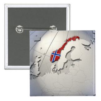 Flag of Norway 15 Cm Square Badge