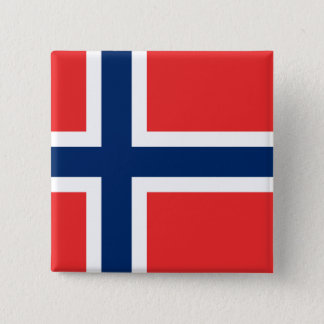 Flag of Norway 15 Cm Square Badge