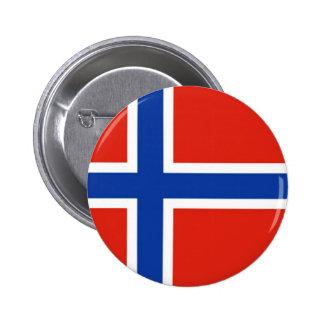 Flag of Norway 6 Cm Round Badge