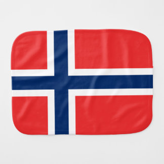 Flag of Norway Burp Cloth