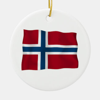 Flag of Norway Christmas Ornament