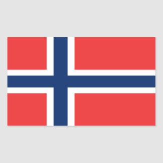Flag of Norway Rectangular Sticker