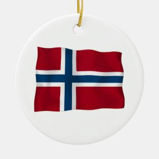 Flag of Norway Round Ceramic Decoration