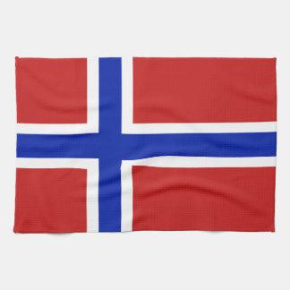 Flag of Norway Scandinavian Tea Towel