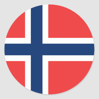 Flag of Norway Sticker (Circle)