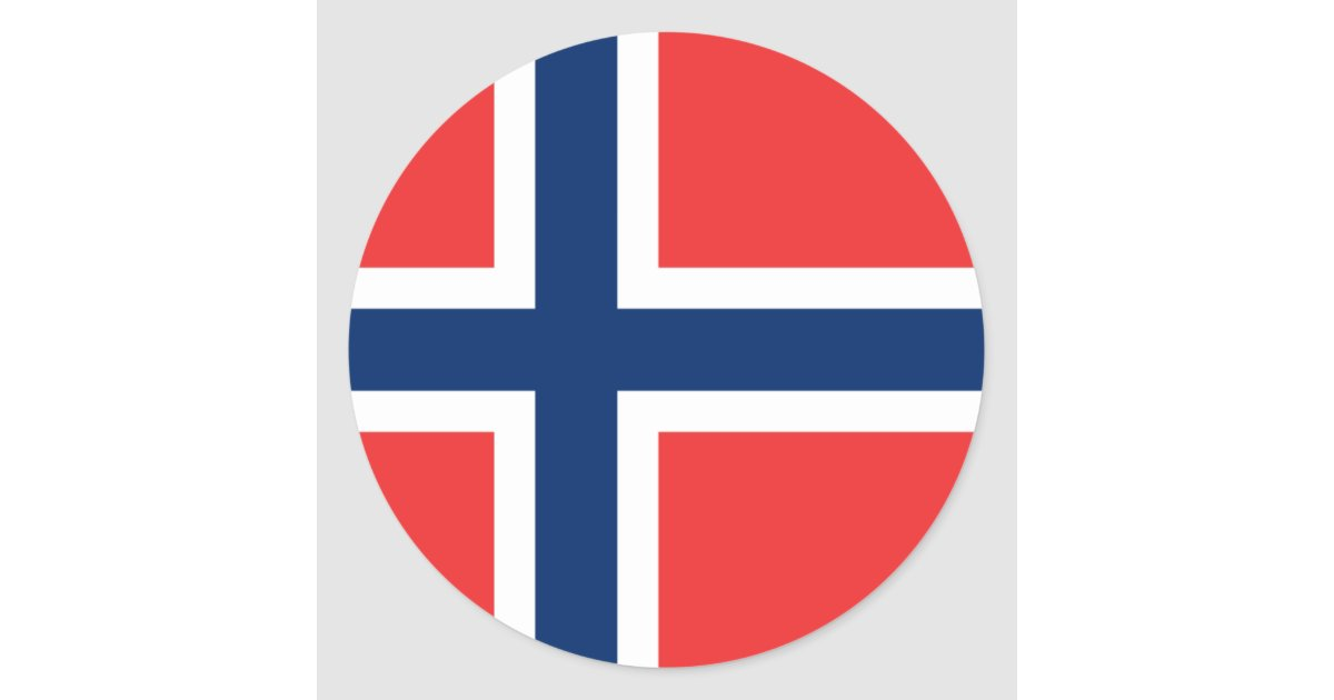 Flag of norway sticker circle zazzle co uk