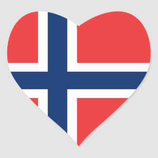 Flag of Norway Sticker (Heart)