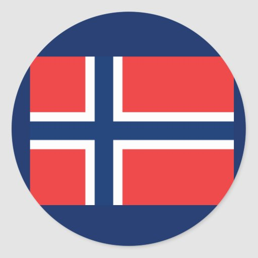 Flag of Norway Tshirts, Mugs, Buttons Round Stickers