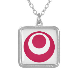 Flag of Okinawa Prefecture Silver Plated Necklace