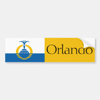 Flag of Orlando, Florida bumper sticker