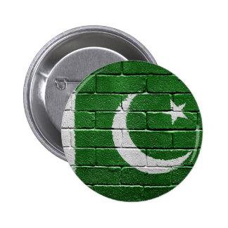 Flag of Pakistan 6 Cm Round Badge